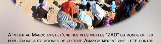 Soirée de soutien aux habitant·e·s en lutte à Imider au Maroc